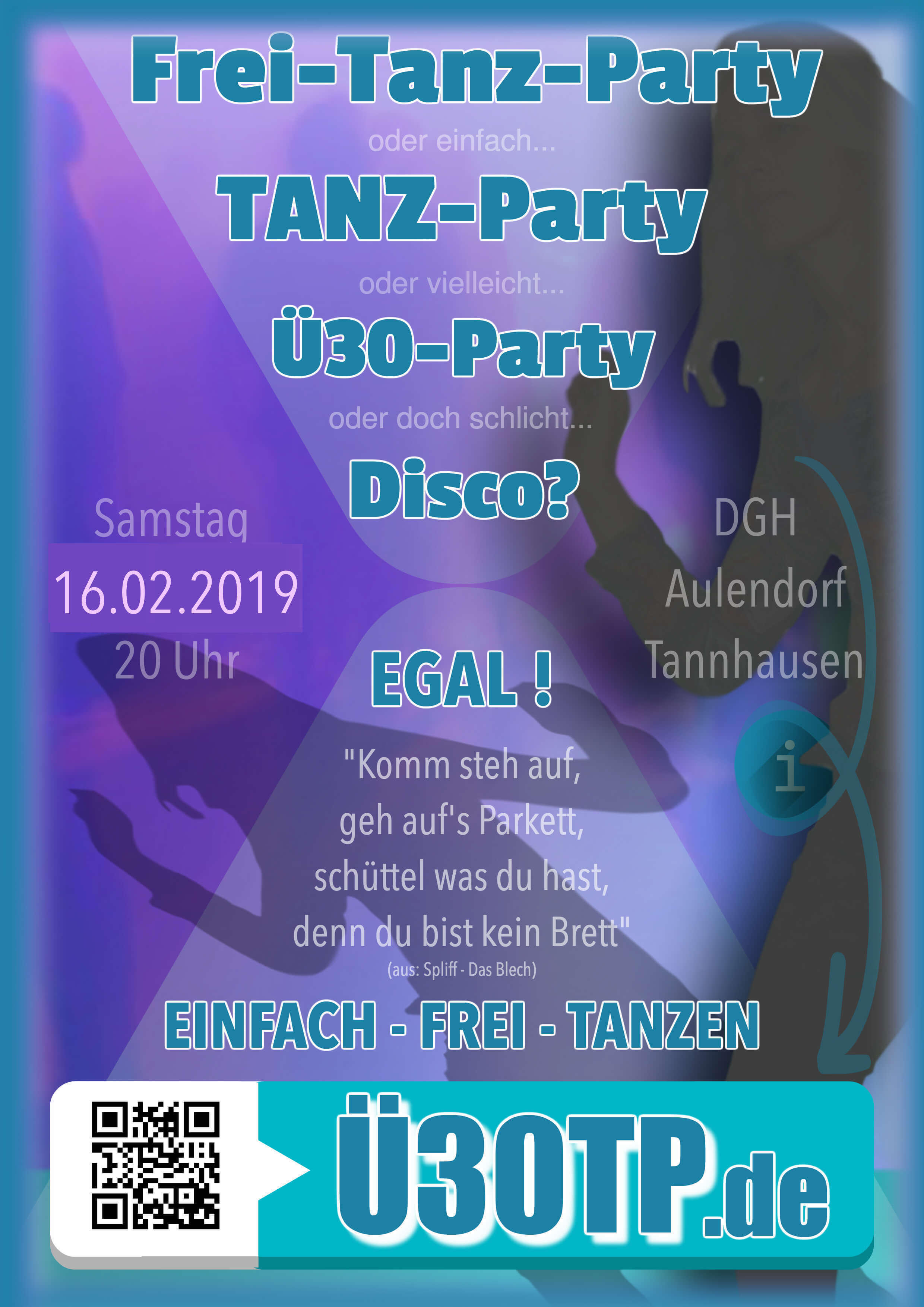 Flyer Tanzparty zum Download
